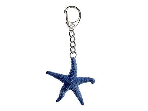 Miniblings Seestern Schlüsselanhänger Schlüsselring Meerestier Tier Ozean Stern (Seestern Schlüsselanhänger)
