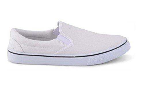 Footwear Sensation , Herren Mokkasins Weiß