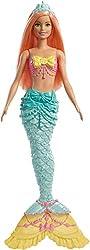 Barbie FXT11 - Dreamtopia Meerjungfrau Puppe mit orangenen Haaren und Flosse in türkis, Puppen Spielzeug und Puppenzubehör ab 3 Jahren