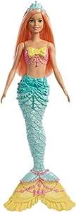 Barbie Dreamtopia - Muñeca Sirena con pelo naranja (Mattel FXT11)