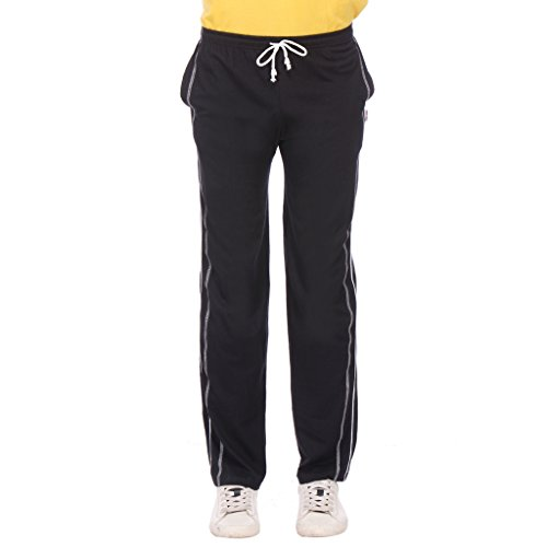 TeesTadka Solid Men's Track Pants TRK BLACK NIGHT 27_S_Black_Small  available at amazon for Rs.449