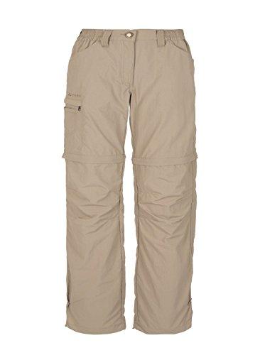 VAUDE Damen Hose Farley Zip Off Pants IV, Muddy,34/XXS (kurz), 3873