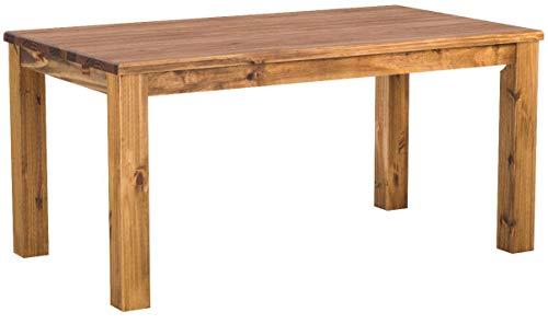 Brasilmöbel Esstisch Rio Classico 160x90 cm Brasil Massivholz Pinie Holz Esszimmertisch Echtholz Größe und Farbe wählbar ausziehbar vorgerichtet für Ansteckplatten