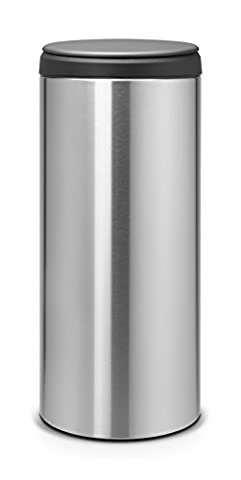 Brabantia FlipBin with Plastic Lid, 30 L - Matt Steel Fingerprint Proof