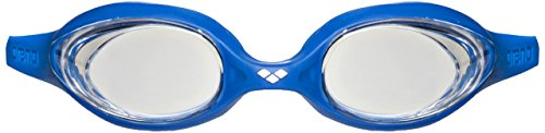 arena Unisex Training Wettkampf Schwimmbrille Spider (UV-Schutz, Anti-Fog Beschichtung, Harte Gläser), Clear-Blue-White (171), One Size