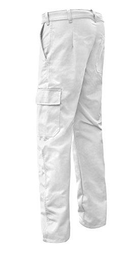 strongAnt® - Malerhose Stuckateur Putzer Essen Bundhose 260gr - Arbeitshose Cargohose - Made in EU - Weiß 50