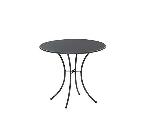 Emu Table pour extérieur Pigalle Kiss diamètre 80 cm en Fer zingué et Verni à poussières - Couleur Fer Ancien Fantaisie 22 - Produit fabriqué en Italie