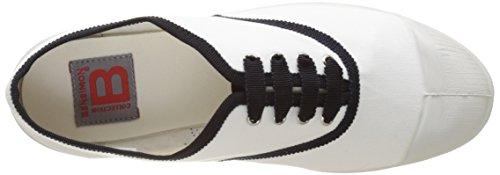 Bensimon - Tennis Lacet Gros Grain, Basse Donna Bianco (Blanc)