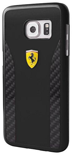 Ferrari FECCHCS7BK DAYTONA Glanz und Real Carbon Fiber Plate harte Schutzhülle für Samsung Galaxy S7 schwarz
