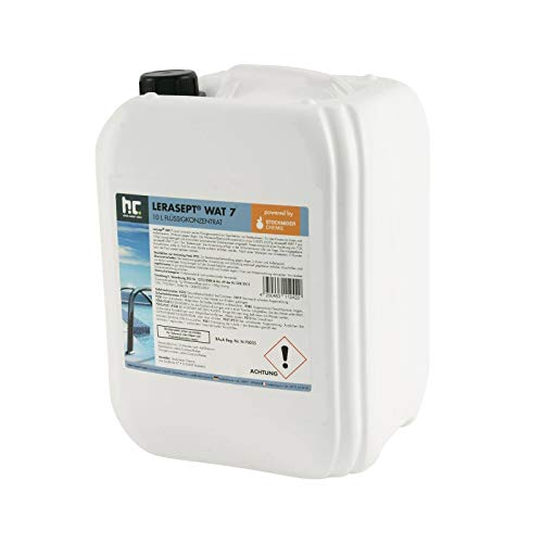 20 Liter (2 x 10 Liter) Aktivsauerstoff Wasserstoffperoxid H2O2 Lerasept® WAT 7 für Pools und Schwimmbäder Chlorersatz (Wasserstoffperoxid Natürliche)
