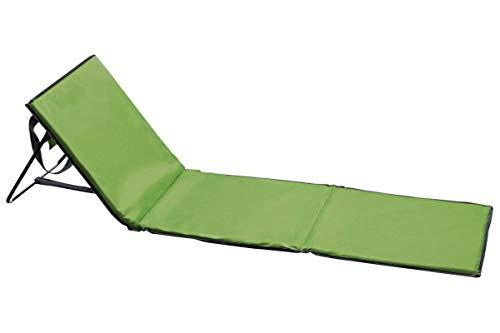 Crivit Campingmatte - faltbare Strandliege mit Rückenlehne Grün