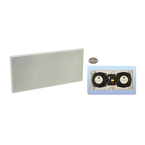 e-audio B4136,5Dual 2-Wege-Unterputzkabel Lautsprecher mit Twin Treiber Ohm Flush Mount