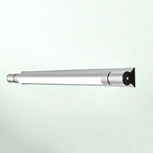 William 337 Spiegel Front Ligh Einfache und moderne LED Badezimmer Licht Wandleuchte Badezimmer Beleuchtung Make-up Lampen Silber (größe : 4W/40cm) -