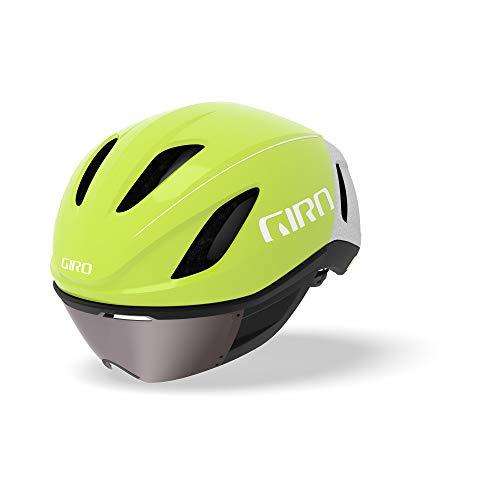 Giro Vanquish MIPS Triathlon Zeitfahrhelm gelb/weiß 2019: Größe: L (59-63cm)