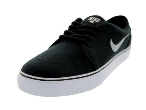 Nike Satire Canvas, Chaussures de Skate Homme, Blanc, 45.5 EU Noir / argenté / noir (noir / argenté métallique - noir)