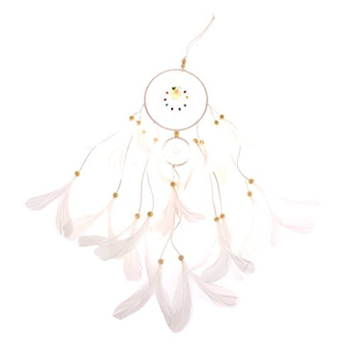 ELECTROPRIME® White Dreamcatcher Handmade Material Set for House Wall Hanging Decoration