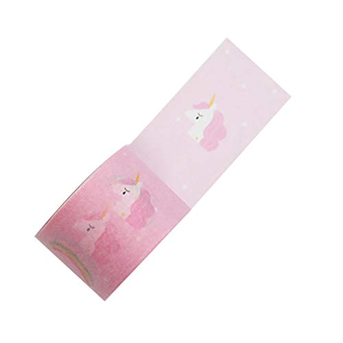 Vikenner Washi Tape Dekorative Einhorn 30mm Masking Tape Aufkleber für Heimwerker Scrapbooking DIY Deko-Klebeband Basteln Glückwunschkarten Washitapes Rosa (Masking Tape Rosa)