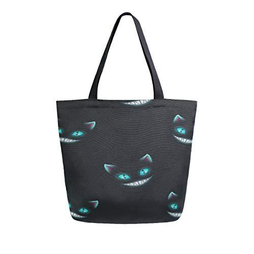 le Face Tragbare Große Doppelseitige Casual Canvas Tragetaschen Handtasche Schulter Wiederverwendbare Einkaufstaschen Reisetasche Für Frauen Männer Lebensmittelgeschäft Reise ()