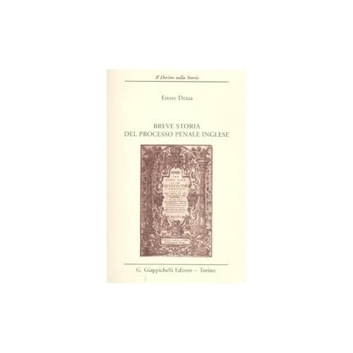 Breve Storia Del Processo Penale Inglese