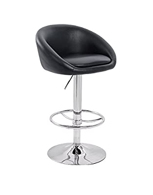 Luca Bar Stool Black - cheap UK light shop.