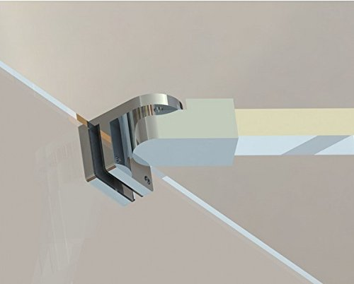 31SyyTLruJL - Barras de apoyo de la pared al vidrio para colocar paneles de puerta de ducha, sin marco, acero inoxidable, para vidrios de 6mm a 10mm de grosor de M-Home