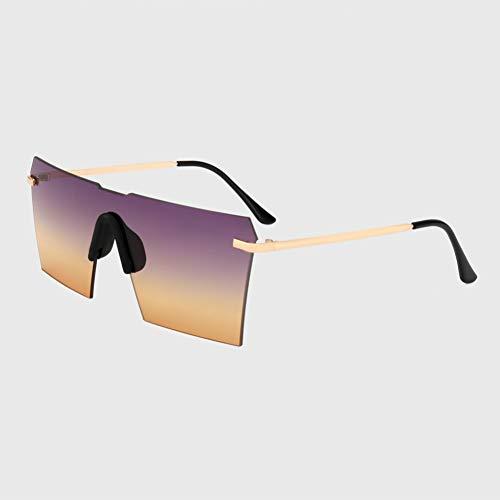 DWSYDA Übergroße Sonnenbrille Frauen Randlose Spiegel Sonnenbrille Shield Eyewear,3