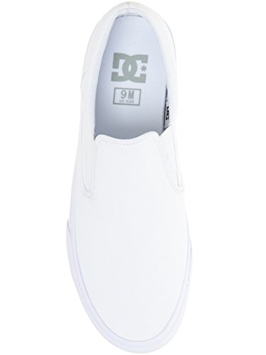 DC Shoes Trase Slip-on T M Shoe Nvy, Low-Top Chaussons homme Blanc - White/White