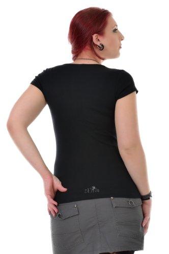 3 Elfen - T-Shirt Top - Col Rond - magie élément om Noir