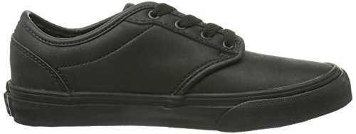 Vans Y Atwood, Baskets mode mixte enfant Noir (Leather Blk/Bl)