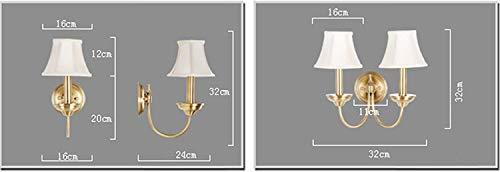 ZHYTX Alle Messing-Nachttischlampen, einfache Spiegelscheinwerfer, eine Exklusive Auswahl an Wohnzimmer mit Leuchtturm,A -