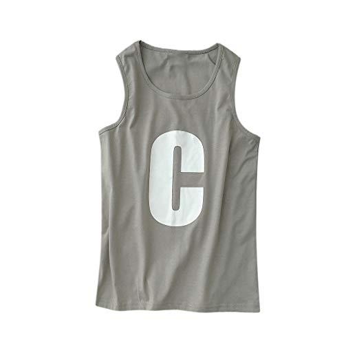 481dd77a6f4cec luoluoluo Homme Débardeurs Sport Tank Top Slim Fit Respirant Gilet T Shirt  Impression de Lettre Hommes