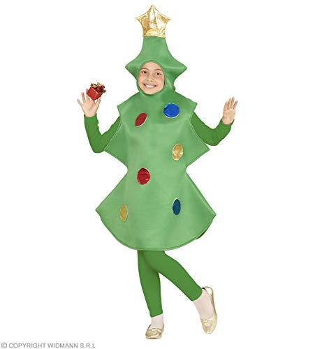 WIDMANN wdm02806-Kostüm für Kinder Weihnachtsbaum (128cm/5-7Jahre), grün, XXS