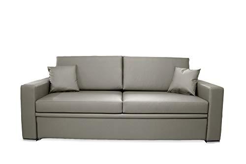 Ponti Divani Schlafsofa mit ausziehbarem Bett und eine Matratze enthalten!! Bezug aus Kunstleder. Produktion MADE IN ITALY!!!