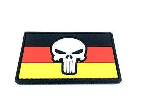 Patch Nation Punisher Deutsch Deutschland Flagge PVC Airsoft Paintball Klett Moral Flicken