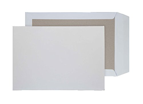 Purely C4 - Sobres autoadhesivos con base de cartón (229 x 334 mm, 125 unidades), color blanco