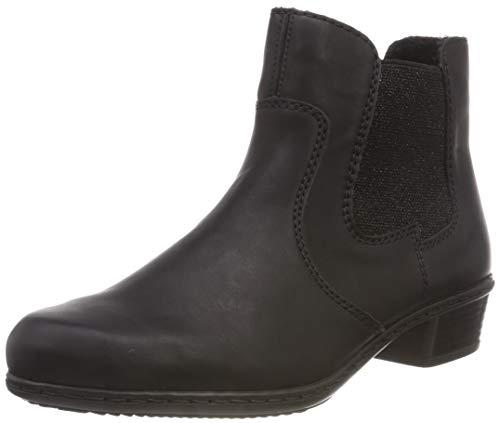 Rieker Damen Y0760 Chelsea Boots, Schwarz (Schwarz 00), 39 EU