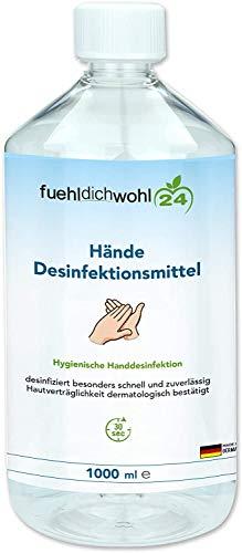 Desinfektionsmittel für Körper und Hände Zur hygienischen und schnellen Händedesinfektion Hautverträglichkeit dermatologisch bestätigt gebrauchsfertig 1000ml