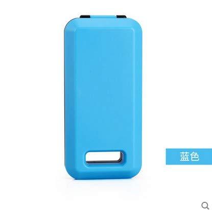 XIAOYANJIA Hochwertige ungiftig faltbare tragbare Reise Besteck Box Schule Reisetasche Tasche Stäbchen Löffel Gabel Set, Boxed blau Boxed Gabel