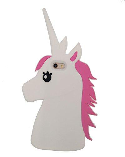 iPhone 6/6S Plus 5.5 Custodia, BENKER (Unicorno) Alta Qualità 3D Cartone Animato Morbido Silicone Gel Antiurti Copertura Telefono Caso - Color Unicorno Bianco Unicorno
