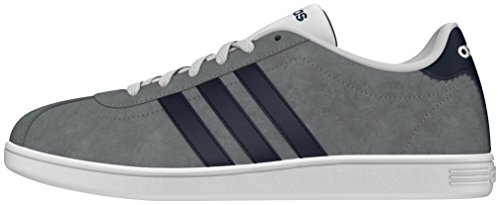 Adidas Men's Grey (Grey/Collegiate Navy/Ftwr White)   Vlcourt Trainers Shoes – 10 UK