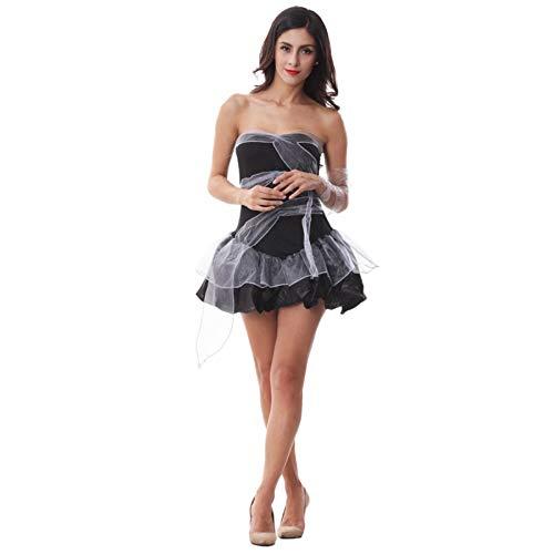 Kostüm Ghost Kind Bride - ERJQ Halloween Kleid, Erwachsene Frauen Sexy Halloween Party Ghost Bride Kostüme Phantasie Vampire Zombie Cosplay Kleider mit