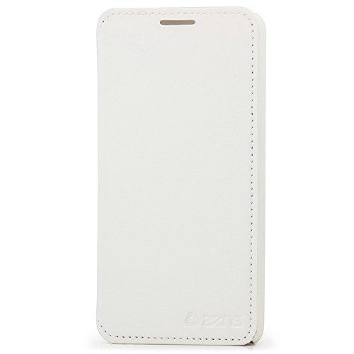 Saxonia Flip Case Tasche für Huawei Ascend G520 G525 Elegante Schutzhülle mit Kartenfach | Farbe: Weiß