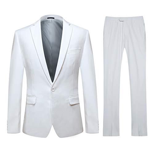 YOUTHUP Traje para Hombres Blazer y Pantalones Elegantes Trajes para Hombre de Vestir