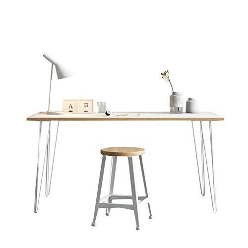 YQ WHJB Computertisch Mit Metal Legs,Holz Schreiben Computer Schreibtisch,haarnadel-Bein Study-Tabelle Workstation Esstisch Einfach Zu Montieren-a 140x60x75cm(55x24x30inch) -