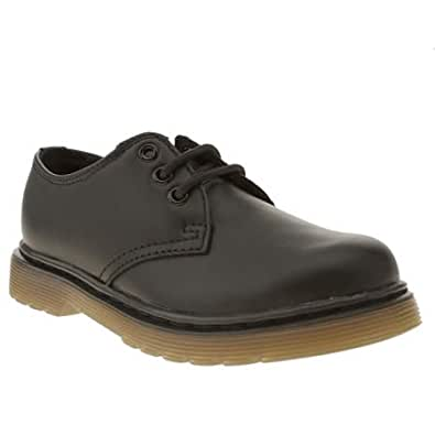 Dr Martens EVERLEY 15328001 Childrens Lace-up Shoe BLACK SOFTLY 12