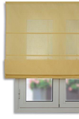 Estor plegable con varillas 150x175cm - Color Amarillo