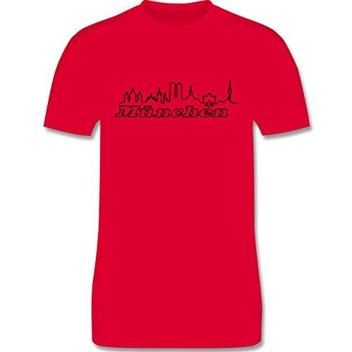 Skyline - München Skyline - Herren Premium T-Shirt Rot