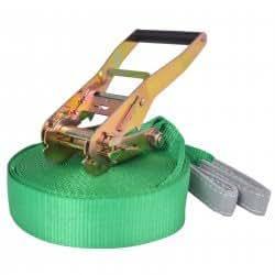 vidaXL Slackline 15 m x 50 mm 150 kg Green Balance Training Rope Beginner