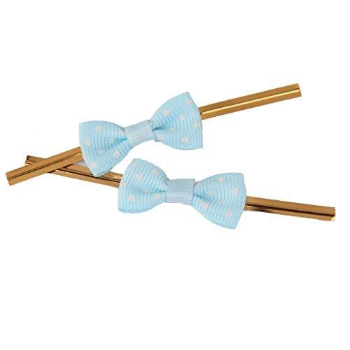 ca. 50Rose Schleife Geschenk Verpackung Metallic Twist Krawatten für Party Bakery Cookie Candy Staubbeutel hellblau