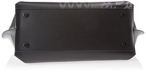 Chicca Borse Damen 8866 Schultertasche, 40x33x15 cm Nero (Nero)